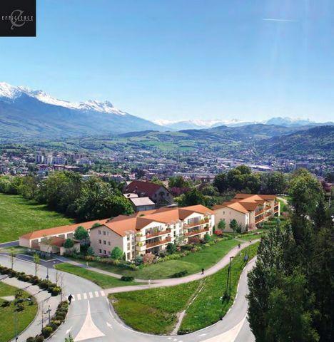 A vendre appartement T3 3 pièces 2 chambres 64m2 avec balcon 12m2 et garage dans Programme neuf Gap 05000, éligible pinel.