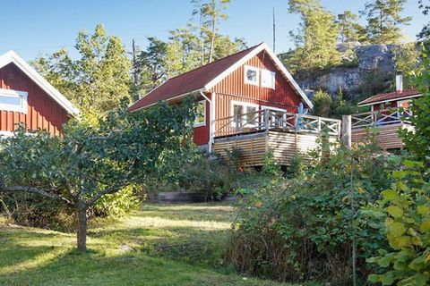 """Situated just south of Västervik in the beautiful archipelago, this holiday house is located in the well-kept cottage area called """"Äskestock"""". Here you have the wonderful ocean just 130 m away! The wooden staircase leads up to the large terrace that ..."""