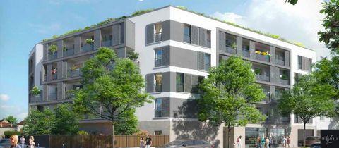 A vendre appartement T3 3 pièces 2 chambres avec balcon, loggia, et parking dans Programme neuf Bobigny 93000, éligible pinel.