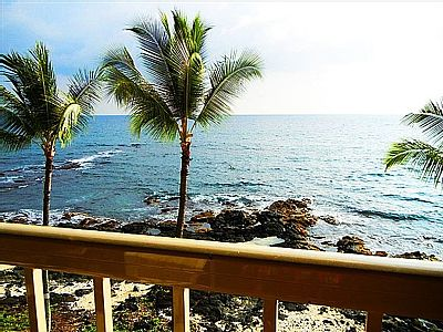 Private, top floor, absolute oceanfront, lovely one bedroom condo at the highly acclaimed Kona Reef Resort! Why Kona Reef: • Conveniently located along the prestigious Alii Drive in the heart of Kona town.