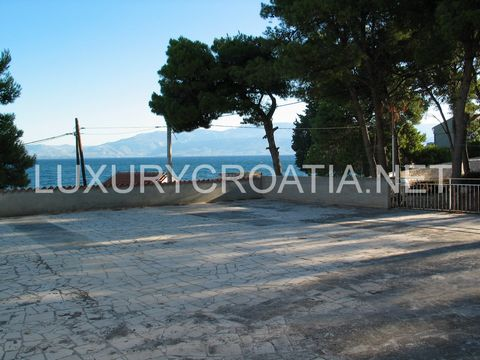 About this Property: (H-VK-SUB-IMG) Big seafront house for sale, Sutivan, island Brac House was built in 1975. On the ground floor there is a former restaurant of approximately 130 m2, covered terrace of 100 m2, with uncovered approximately part of 5...