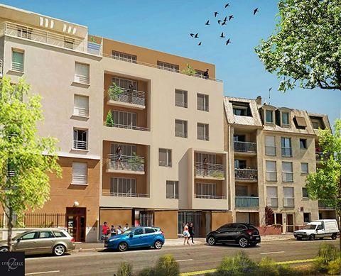 A vendre appartement T3 3 pièces 2 chambres dans Programme neuf Le Bourget 93350, éligible pinel, PTZ.