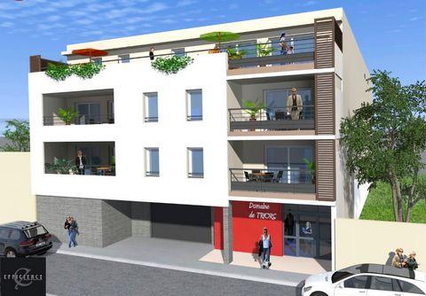 A vendre grand appartement T3 3 pièces 2 chambres avec terrasse et parkings, dans Programme neuf Nîmes Beausoleil, éligible pinel.