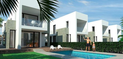 Located in Alicante. New project with 10 exclusive villas, this model consists of 3 bedrooms, 3 bathrooms, plot of 290m2, private pool, private garden, Includes appliances, A / C by conducts, Underfloor heated bathrooms, automatic shutters, solarium ...