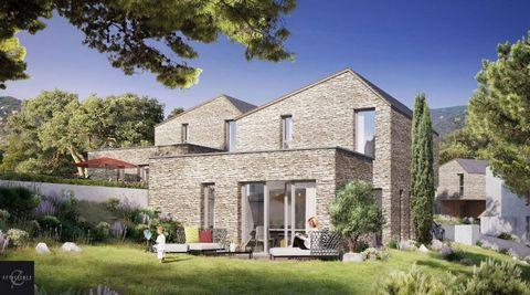 A vendre villa T4 4 pièces 3 chambres 81m2 avec terrasse et jardin, dans Programme neuf Ajaccio, Corse, éligible Pinel et PTZ.