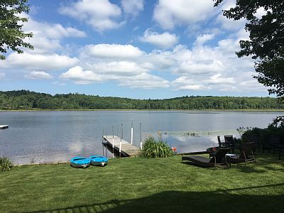 Just under 3 miles to the Loudon Race Track. Whether you just want to get away and enjoy the luxury of lake front living or you would like to snow mobile in the winter, this home has it all.