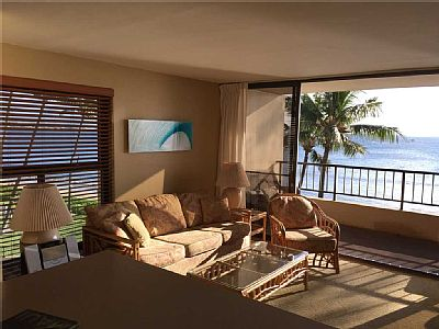 This Ocean Front Condo is a corner unit and has extra windows, creating a bright and open living area. There are many upgrades throughout including a kitchen remodel.