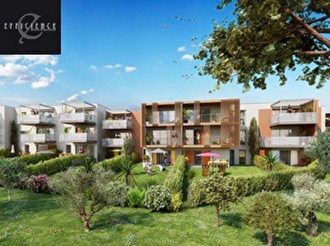 A vendre appartement T3 3 pièces 2 chambres 65m2 avec terrasse et jardin 103m2 dans Programme neuf Saint Raphael 83700, éligible pinel.