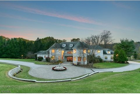 Luxurious manor estate designed by renowned architects Zampolin & Associates. Situated on over 5 acres of meticulously manicured grounds and located in the most desirable section of Saddle River. The main house features approximately 18,000 square fe...