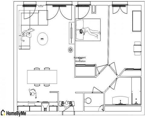 Périphérie Saint-Etienne, spécial investisseurs appartement loué de 64m², agencé en 2013, cuisine aménagée ouverte sur séjour, 2 chambres, salle de bains de qualité. Proximité zone commerciale, écoles et ligne de bus. Ce bien fait partie d'une coprop...
