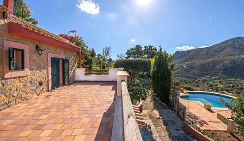 Fantastic country home for sale in Andratx with spectacular views This idyllic country home with large garden and a pool is located in the most beautiful garden of the Tramuntana Mountains above Andratx with views over the sea and the port of Andratx...