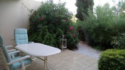 Le Lavandou cv – Agréable T2 rez de jardin en cv exposé sud dans résidence sécurisée – sejour avec cuisine ouvrant sur jardin de 45m², chambre de 10m² avec placard, sdb – parking privatif – vendu meublé prix 187182 € HAI -honoraires inclus de 3,99% c...