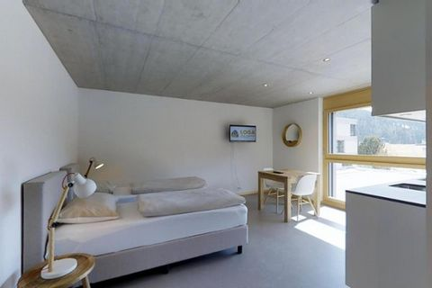 Object: APARTMENT DESCRIPTION New studio, about 33m2 in the second floor. Located very central in St. Moritz Bad directly at cable railway station Signalbahn. Kitchen is equipped with dish washer, fridge, freezer, micro combi, water heater and Chicco...