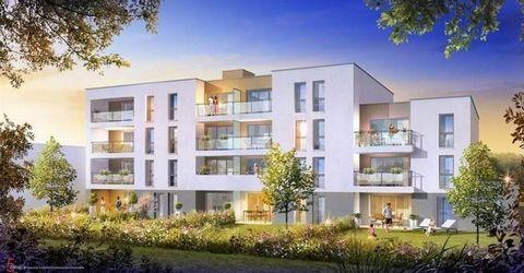 A POITIERS, Quartier GIBAUDERIE, dans la résidence neuve «ALLEES DE LA GIBAUDERIE », nous vous proposons un appartement de type T4 n°B304 (22) de 75.17m², situé au 3ème étage avec ascenseur, il comprend : une entrée, un séjour avec coin cuisine donna...