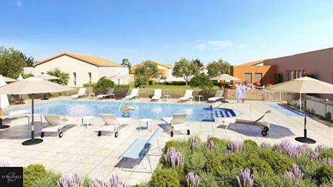 A vendre maison T2 2 pièces 1 chambre plain-pied, parking, dans Programme neuf sénior à Pollestres 66450, éligible pinel.