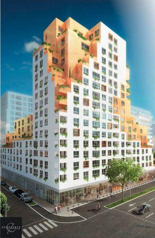 A vendre T2 2 pièces 1 chambre 37m2 et balcon, dans Programme neuf, nouveau centre-ville d'Evry 91000, éligible pinel.