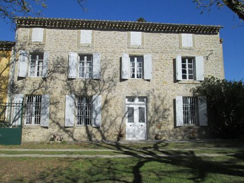 Rare and peaceful location for Domaine dating from the 18th century, nestled in the heart of it's own 80 hectares. Enter down a beautiful, private drive of Plane trees to arrive at the main house and the stone outbuildings, all set in parkland of abo...