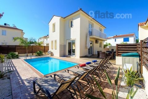 A spacious modern villa with a large garden and pool area, parking for 2 cars and lots of privacy. Walking distance to several beaches of Pernera. Villa Nadia is a very modern and stylish 3 bedroom detached villa with a optionally heated swimming poo...