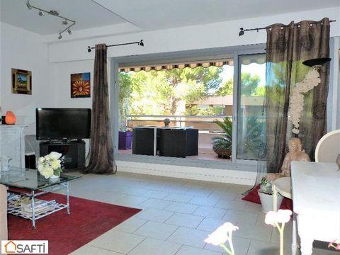 Sur Tamaris, grand T3 de 84 m² en duplex, grande terrasse au calme, cave, parking aisé en résidence sécurisée