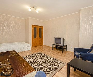 1 bedroom apartment Sleeps: 4 Area: 42m2 Geological 1-room APARTMENT for 4 persons IN the CENTER (NEAR the CIRCUS) to the new house AFTER RENOVATION. Studio apartment on the 6th floor of a 10 story building (special project). Rates: nightly-weekend -...