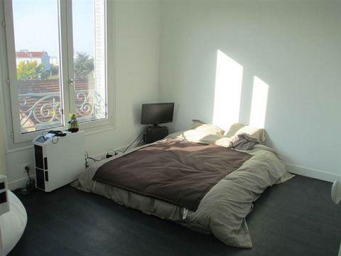 A louer à Vitry sur seine, à 100m de la Gare RER C : un Appartement de 3 pièces de 41.11 m² comprenant une entrée, un séjour, une cuisine, deux chambres, une salle d'eau avec WC. Cave. Chauffage individuel. Disponible .