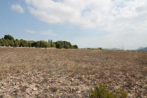 Parcela de terreno entre Salinas y Sax, Alicante, con un tamaño de aprox. 13.000m² con la red eléctrica y el agua cerca. Está a un par de minutos fuera de Salinas y tiene buen acceso por carretera asfaltada.