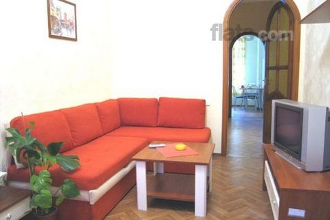 One-room apartment in the very centre of the city. The apartment is on the first floor of a five-floors building. The apartment possesses all facilities that correspond to European standards. Living room: one arm-chairs, conditioner, coffee table, TV...