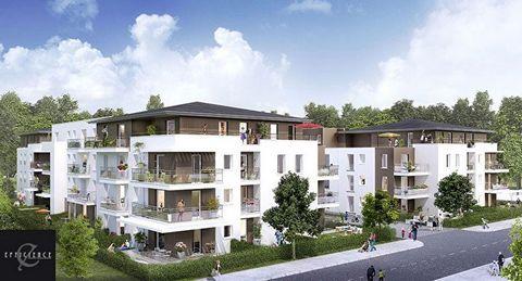 A vendre appartement T2 2 pièces 1 chambre 48m2 et terrasse, dans Programme neuf senior Mennecy 91540, éligible LMNP Censi Bouvard.
