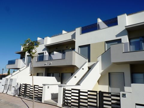 Ground floor apartment with private terrace in Pilar de la Horadada, Alicante. The property has 2 bedrooms with wardrobes, 2 bathrooms, American kitchen and private terrace of 47m2. The complex has garden areas with communal pool. Pilar de la Horadad...