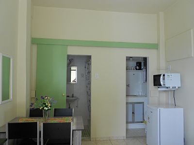 The apartment has been fitted recently with new furniture. 24 hour doorman, elevator, 5 minutes from Flamengo subway, close to bars, restaurants and supermarkets. A 1 minute of Flamengo and 7 minutes from Botafogo Bay.