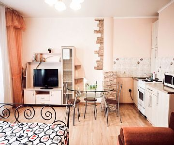 Studio apartments are the most popular on the market of daily rent apartments in mind their convenience and relatively low cost. We offer for your choice many one-room apartments in Tyumen. Rates: nightly-weekend - from 32.9 to 32.9 USD