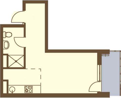 Продается 1-комн. кв-ра площадью 31,6 кв.м на 2 этаже 3 этажного дома в ЖК