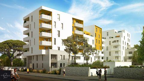 A vendre appartement T2 2 pièces 1 chambre 42m2 avec terrasse 6m2 dans Programme neuf Montpellier 34070, éligible pinel et TVA réduite.