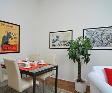 I offer a cozy, bright and fully furnished apartment in a quiet street in the Prague city centre. The apartment is situated on the first floor. This property is suitable for up to four guests. Rates: nightly-weekend - from 133.74 to 133.74 USD