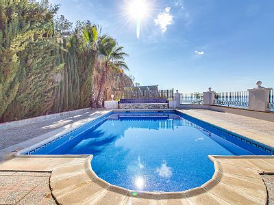 The villa in Torrox has 4 bedrooms and has capacity for 8 people. The villa is nicely furnished, is fully equiped, and has 350 m². It has views to the sea and to the mountain. Rates: nightly-weekend - from 190.63 to 413.21 USD