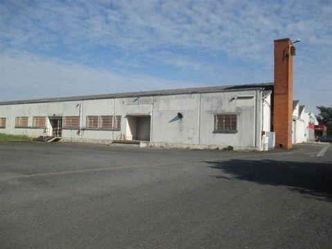 pour investisseur ou entreprise, en zone de revitalisation, LOCAUX de 4.100 m² sur un hectare. 1.400 m² sont loués 67.200 euros HT par an. Le reste est disponible.