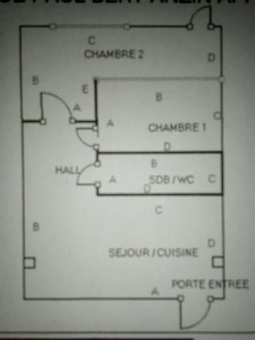 loue appartement en rez de chaussée composée d'une pièce a vivre avec cuisine ouverte, d'un wc séparé, d'une salle de bain, une chambre et d'une pièce donnant sur une petite cour, chauffage électrique proximité école, grand axes routiers et tramway