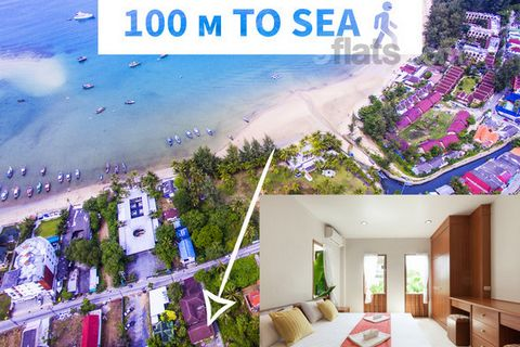 Beach is 3-5 minutes walk, ~ 100 m. The picturesque snow-white Bang Tao beach is uncrowded and has a gentle entrance to the sea, safe for children. 15 minutes drive to Patong with active club life! The house is 150 sq.m., equipped kitchen, microwave ...