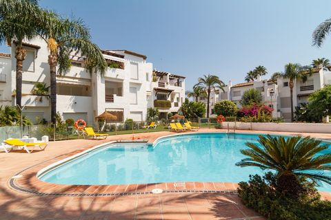 This is a fantastic and beautifully furnished 2 bed ground floor apartment in a tranquil urbanisation in Costalita inbetween Estepona and San Pedro. It has its own secure and private off street parking. The apartment offers a lovely covered terrace/p...