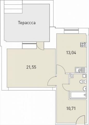 ID 2577 Продам 1-комнатную квартиру стеррасойво Всеволожске!  Высокие потолки - 3м. Просторная квартира с большой отдельной террасой - собственный дворик под окнами! Жилая комната предусмотрена практичной квадратной планировки - можно будет постав...