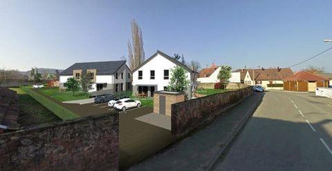 Maison 4 pièces à Saverne, de 82 m² habitables, Comprenant 1 entrée, 1 salon séjour donnant sur une cuisine ouverte, 3 chambres, 1 salle de bains, 1 W