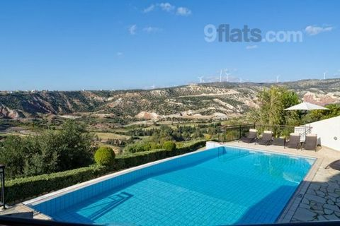 Villa Pyla is a stunning, spacious villa close to the resort facilities with 4 en-suite bedrooms, fabulous views and pool heating available. The property is spread across three floors and features a large, open plan living and dining area with vaulte...