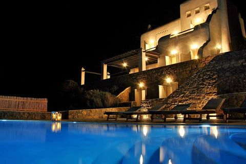 This traditional Mykonos Villa is situated near the marvelous golden sands of Agios Sostis beach, famous for its unspoilt nature and turquoise waters, and enjoys a privileged position with extensive sea view over the Aegean Sea and the northern coast...