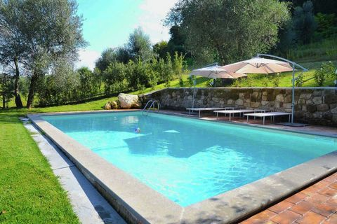 Felce is a detached, rustic home with a stunning, panoramic view and a private garden. The house is charmingly decorated with antiques and restored, original furniture. The atmosphere here is warm and inviting. The private swimming pool equipped with...