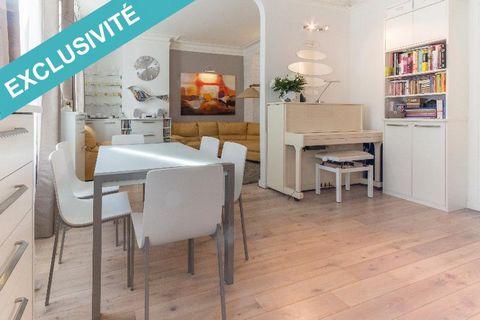 En exclusivité , secteur Magenta/Lariboisière Immeuble Haussmann , appartement de 75 m2 En Rdc , clair et calme refait à neuf , composé d'une entrée, d'un double séjour, d'une cuisine séparée équipée , de 2 chambres, d'une salle de bains , WC séparé....