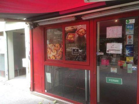 CESSION DE FONDSEVOLIS vous propose le fonds de commerce d'une restauration rapide à Paris 19 bien placé. Nombreux commerces et proche du métro. Surface 30 m², extraction aux normes, cuisine aménagé. En salle 6 couverts en mange debout et 10 en terra...