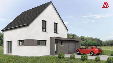 Découvrez notre projet de construction de maison personnalisée à Hoffen, près de Haguenau ! Construisez par exemple une maison de 5 pièces avec salon-séjour, cuisine, salle de bain et 4 chambres à coucher. Garage inclus. A partir de 190 600 € En prêt...