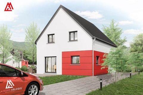 Vous souhaitez faire construire votre maison près de Guebwiller ? Maisons Arlogis vous propose ce projet de construction à Soultzmatt !Exemple de construction possible : Une maison de style Adhara de 5 pièces avec un garage intégré. Au rez-de-chaussé...