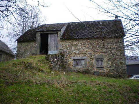 Sur les hauteurs d'Argentat sur Dordogne, au calme de la campagne, jolie grange de 1695 avec ancien logement, le tout à renover entièrement. Sur un terrain d'environ 1000 m2 et avec une petite dépendance, ce bien vous offre un beau potentiel et la po...