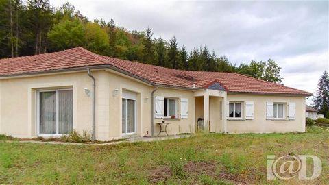 I@D France - Jean-Luc ESTUPINO ... vous propose : A VENDRE - VARETZ - 5 MN DE BRIVE.Maison de plain pied de 2009, comprenant un vaste séjour lumineux, une cuisine équipée indépendante, 4 grandes chambres, une buanderie, une salle de bain avec baignoi...